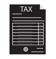 tax form icon on white background tax form sign vector image vector image