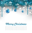 Traditional Glowing Background with Christmas vector image vector image