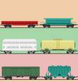 train carriages car railway without striping vector image vector image