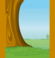 Tree and pasture background vector image