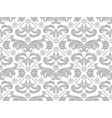 wallpaper with silver damask pattern vector image vector image