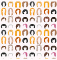woman hair styling seamless pattern background vector image
