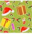 Seamless christmas pattern with gifts vector image