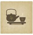 tea ceremony old background vector image