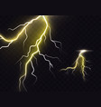 3d realistic of lightning vector image vector image
