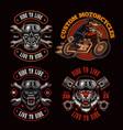 a bundle biker-themed vector image vector image