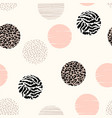 abstract geometric seamless pattern with animal vector image