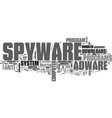 adware spyware download text word cloud concept vector image vector image