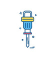 air hammer icon design vector image