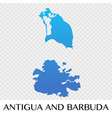 antigua and barbuda map in north america vector image vector image