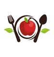 apple fresh fruit isolated icon vector image vector image