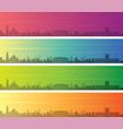 asuncion multiple color gradient skyline banner vector image vector image