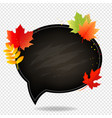 autumn poster with school board white background vector image vector image