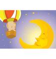 Baby visits moon vector image vector image