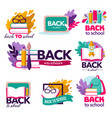 back to school studying and obtaining knowledge vector image