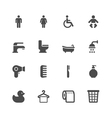 Bathroom Icons vector image vector image