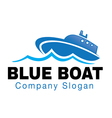 Blue Boat Design vector image vector image