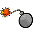 bomb clip art cartoon vector image vector image