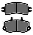 brake pad black silhouettes vector image vector image
