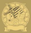 bread mill grain coat arms image vector image vector image