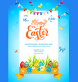 bright easter template vector image