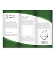 business brochure design on a white background vector image