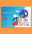 business target achievement career success growth vector image