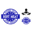 butcher man distress icon and stamps vector image vector image