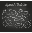 chalk drawings set speech bubble cloud vector image