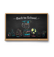 chalk drawn set education objects vector image