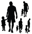 child cute with father vector image vector image