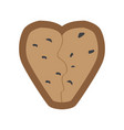 christmas gingerbread with a heart shape vector image