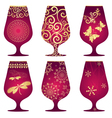 Christmas glasses vector image vector image