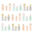 cream and lotion cosmetics set realistic vector image vector image