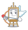 cupid easel character cartoon style vector image vector image