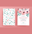 delicate wedding invitation templates vector image vector image