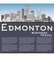 Edmonton Skyline with Gray Buildings vector image vector image