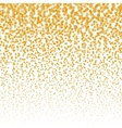 falling stars halftone background Golden vector image vector image