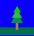 fir-tree in the nature vector image vector image