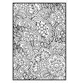 Floral pattern for coloring book vector image