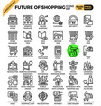 future of shopping concept icons vector image vector image
