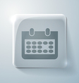 Glass square icon with highlights calendar vector image vector image