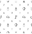 golf icons pattern seamless white background vector image vector image