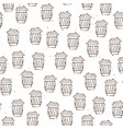 hand draw coffee cup pattern coffe take vector image