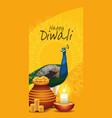 happy diwali indian celebration design vector image vector image