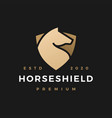 horse shield logo icon vector image