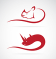 image of rhino and rhinoceros design vector image vector image