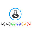 in vitro embryo rounded icon vector image