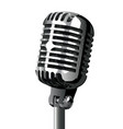 isolated stage mic vector image vector image