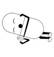 kawaii pill icon image vector image vector image